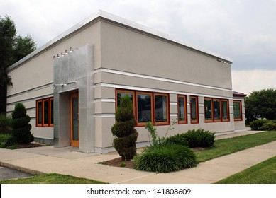 Small Gray Business Building