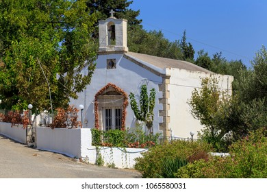 A small Greek Orthodox chapel in the village of Nippos, Apokoronas,Crete, Greece