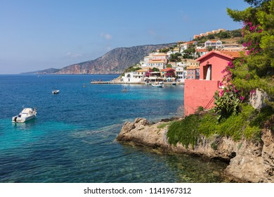 Small Greek town with nice bay