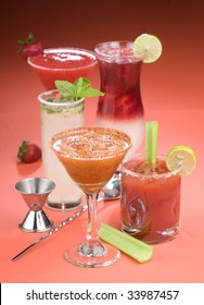 A small group of Cocktail Drinks.