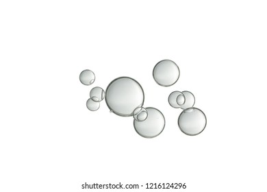 A small group of flowing air bubbles.