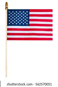 Small Hand held Flag of the United States of America isolated