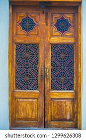 The small handmade door inside the Khan's Palace in Sheki belongs to the eighteenth century and is decorated with stunning floral coloured glass
