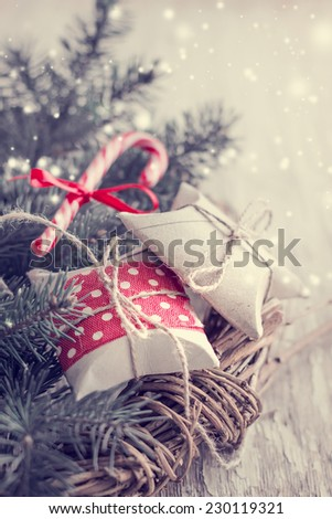 Small Handmade Gift Boxes On Wooden Stock Photo Edit Now 230119321