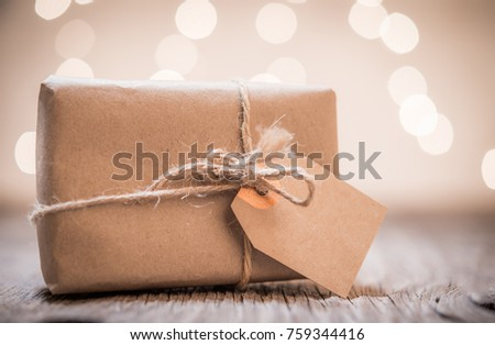 Small Handmade Gift Boxes Shiny Lights Stock Photo Edit Now