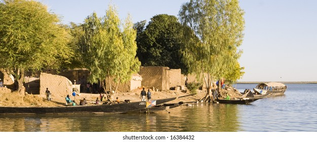 small harbor in africa