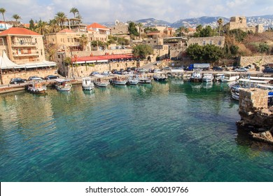 Small harbor in Byblos, Lebanon