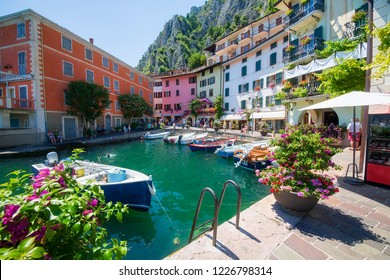 Small Harbor in Limone sul Garda, Italy