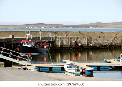 Small Harbour at Bowmore, Isle of Islay, Argyll, Scotland on a Quiet Peaceful Morning.