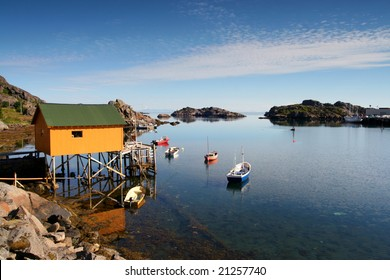 A small harbour in the Lofoten Islands, Norway