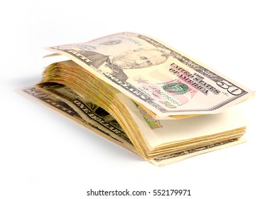 small heap of paper dollars as part of the global economic system