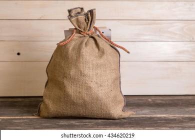 Small hemp sack full of something