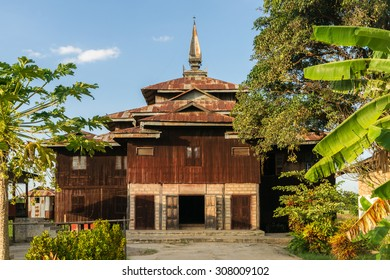 A small hidden temple off the main road near Nyaung Shwe at Inle Lake in Myanmar