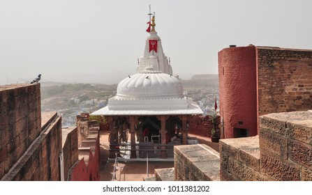 A small Hindu temple of Mehrangarh Fort in Jodhpur, India.