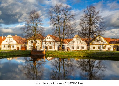 small historic village located in the south of the Czech Republic, Unesco world heritage