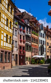Small historical street in Nuremberg/Germany