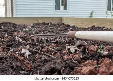 small home garden prepared for seeding in spring