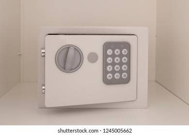 A small hotel safe deposit with a code lock