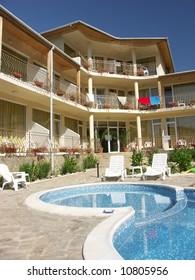 Small hotel with swimming pool