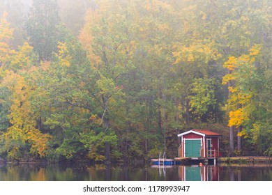 Small house down by the lake