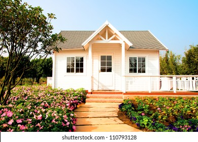 Small house in a garden