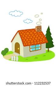A small house with a garden