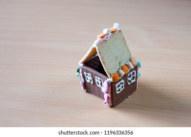 Small house made from cookies