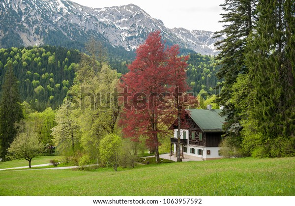 Small house near Linderhof castle in Bavaria