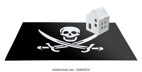 Small house on a flag - Pirate flag