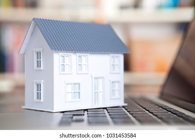Small house on the keyboard
