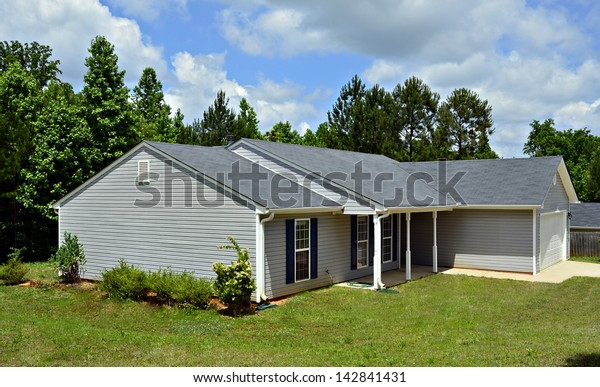 Outstanding Small House Vinyl Siding Stock Photo Edit Now 142841431 Download Free Architecture Designs Osuribritishbridgeorg