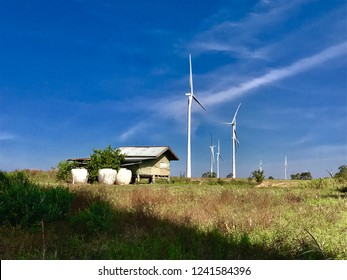 Small house in windmill farm