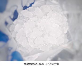 Small ice in bag.