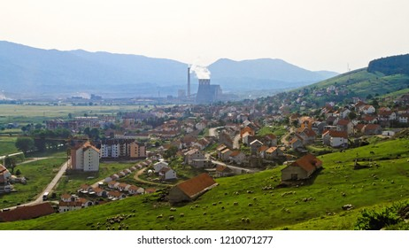 Small Industrial Town Pljevlja in Montenegro Day