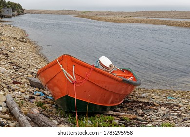 Small inshore lobster fishing boat, Newfoundland and Labrador, Canada.