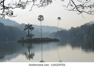 Small islan in Kandy lake