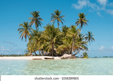 Small Island , Beach and Palm Trees -  San Blas Islands, Panama