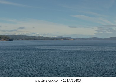 Small island in between Vancouver Island and Mainland Vancouver in British Columbia, Canada