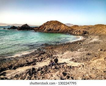 THE SMALL ISLAND DE LOBOS IN FUERTEVENTURA,CANARY ISLANDS,SPAIN