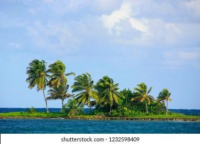 Small island near Las Galeras beach, Samana peninsula, Dominican Republic