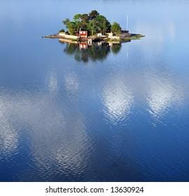 Small island in the swedish archipelago