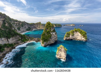 Small islands off of Nusa Penida known as Raja Lima or the five kings in Indonesia.