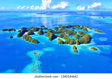 Small islands, sea and trees