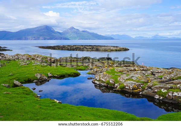.Small Isles, part of the Inner Hebrides of Scotland. Isle Of Muck. Reflection