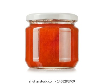 Small jar with apricot jam