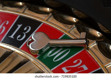 A small key on the roulette wheel