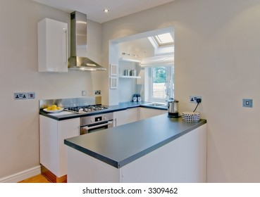 small kitchen in newly converted house