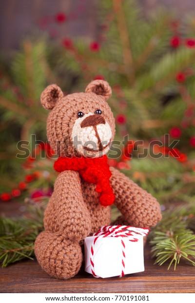 Christmas gift mini bear Amigurumi teddy bear Crochet miniature ... | 620x400