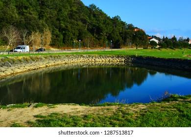 Small lake at the park