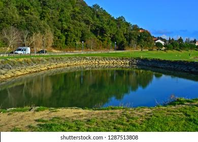 Small lake at the park HDR